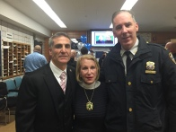 Detective Tommy Nestor, Arlene Harrison and Inspector Tim Beaudette, former commanding officer of the 13th Precinct, now at the Midtown North Precinct