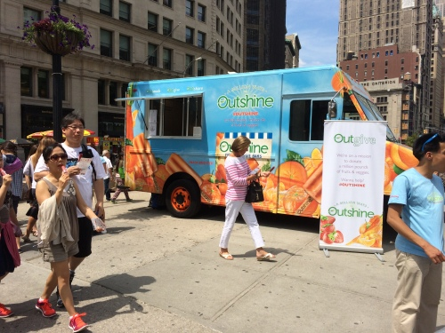 One of numerous promotional events to take place at the Flatiron Pedestrian Plaza last summer (Photo by Sabina Mollot)