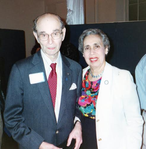 Rabbi Dr. Irving Block, founder of the Brotherhood Synagogue, with Dr. Phyllis Robinove Block