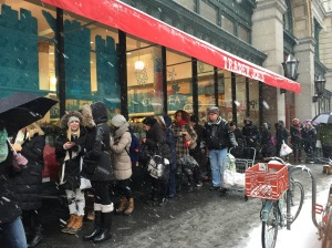 On Monday, customers waited in line just to make it inside Trader Joe's.