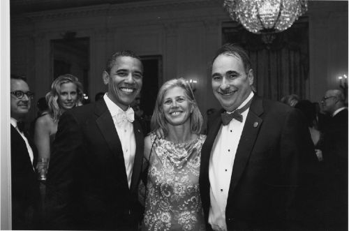 David Axelrod with President Obama and Axelrod's wife Susan on Obama's inauguration night (Photo by Pete Souza/White House)