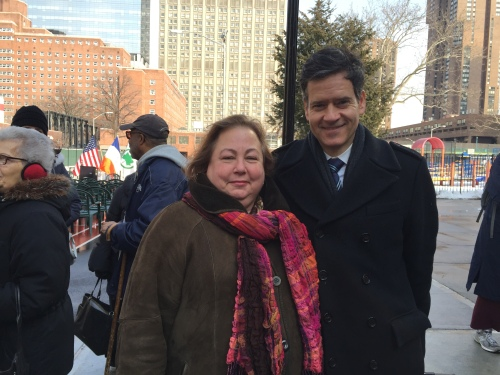 State Senators Liz Krueger and Brad Hoylman say reports of corruption in Albany make people think all politicians are the same. (Photo by Sabina Mollot)