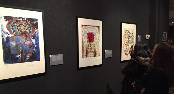 Guests view prints by Salvador Dali during a show at the National Arts Club in February. (Photo by Sabina Mollot)