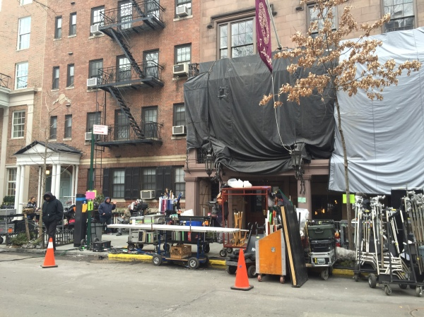 A scene was filmed at the historic club from March 9-11. (Photo by Maria Rocha-Buschel)