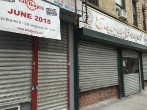 Tal Bagels and a Bank of America will be moving to the former Ess-a-Bagel and Rose restaurant spaces, while a smoked fish shop will be nearby. (Photo by Sabina Mollot)
