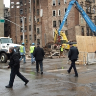 The corner of Second Avenue and East 7th Street on Tuesday morning (Photo by Maria Rocha-Buschel)