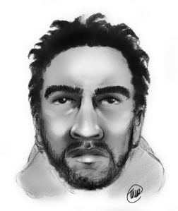 Police sketch of hammer attack suspect