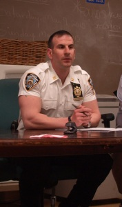 13th Precinct Executive Officer Paul Zangrilli (Photo by Maria Rocha-Buschel)