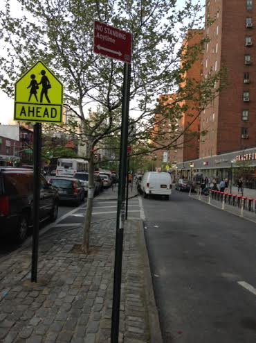 "On Monday, drivers were given no clue as to why a ""No Standing"" sign went up outside of Stuyvesant Town. (Photo taken by a T&V reader)"