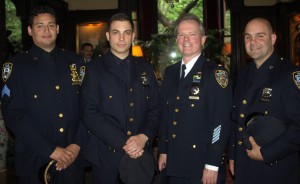 Sergeant Marcel Martinez, Officer Michael Pasquale, Lieutenant David Salmon and Officer Jesse Peterford, 71st precinct in Brooklyn