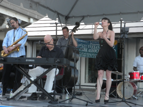 Four members of the John Colianni Quintet at a previous concert at the Cove (Photo courtesy of Stuyvesant Cove Park Association)