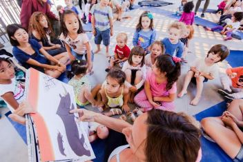 "Children at a storytelling event during last year's ""Summer in the Square"""