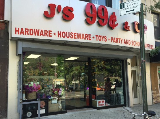 J's 99 Cents & Up has opened up in a First Avenue Space where the owners of Tal Bagels had previously hoped to put a smoked fish shop. (Photo by Sabina Mollot)