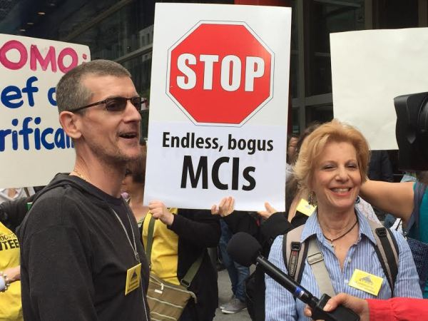 John Marsh and Susan Steinberg at a tenant rally in May Photo by Rebecca Dumais)