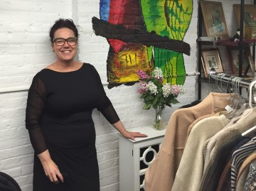 Cathryn Duhigg, director of Cauz for Pawz at the store (Photo by Sabina Mollot)
