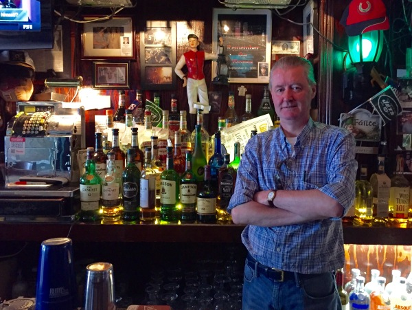 Patrick Maguire inside his horse racing themed bar in Gramercy (Photo by Maria Rocha-Buschel)