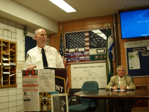 Deputy Inspector  Brendan Timoney, commanding officer of the 13th Precinct (Photo by Maria Rocha-Buschel)