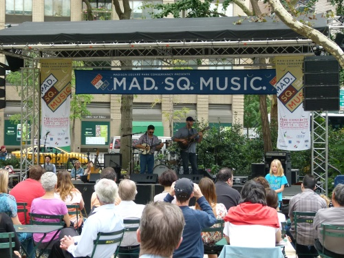 The Studio Series (pictured here during a performance last year) starts on September 12 and feature blues, folk and Americana artists. (Photo courtesy of Madison Square Park Conservancy)