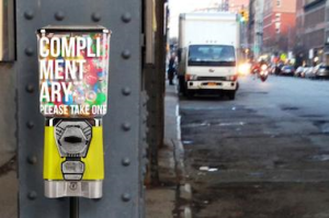A machine that dispenses compliments instead of candy from last year's festival will reappear.