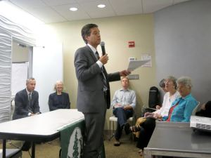State Senator Brad Hoyman at a meeting of the Sierra Club