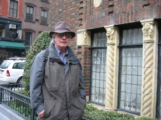 Alfred Pommer in Gramercy Park (Photo by Sabina Mollot)