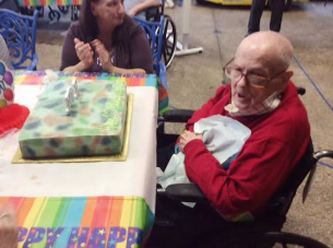 William Johnston celebrates his 101st  birthday. (Photo courtesy of VA)