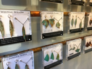 Jewelry made from leaves and different metals at Alyxia Leaf