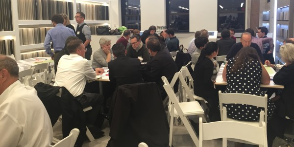 Flatiron residents and business owners at the plaza planning workshop (Photo by Maria Rocha-Buschel)