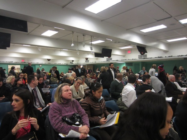 Community residents expressed concern about sex offenders and violent felons. (Photo by Maria Rocha-Buschel)