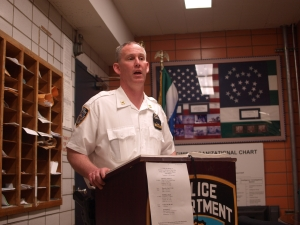 Deputy Inspector Brendan Timoney (Photo by Maria Rocha-Buschel)