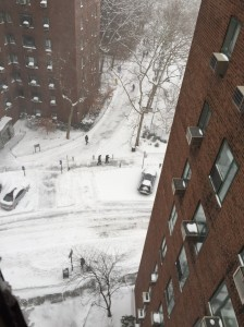 An aerial view of Stuyvesant Town's First Avenue Loop after the storm (Photo by Mark Thompson)