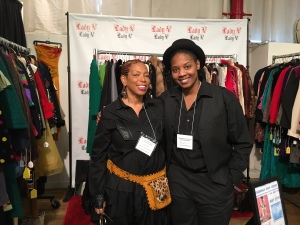 Vivian Hill of Lady V Vintage with apprentice Alexis Wright