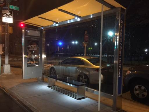 Mar24 Solar powered bus shelter