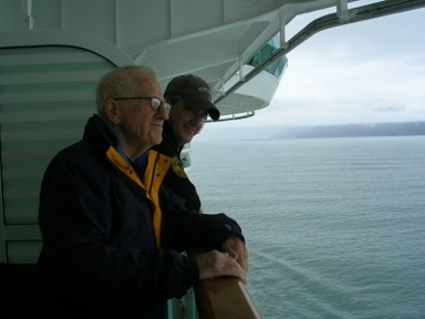 Mark and Ken Chanko on a family cruise in 2006