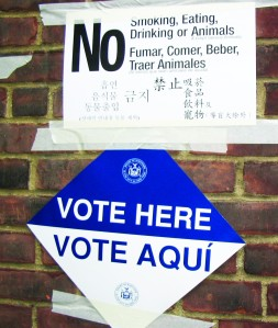 Apr7 vote here sign color