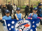 Players from the Blue Jays