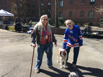 Cheryl and Joseph Krist, with Cheryl's service dog Baci, loved the idea of a dog run.