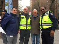 Rick Hayduk and Bobby Valentine with ST/PCV officers at the event