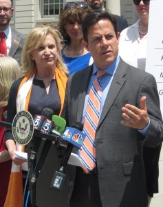 Congresswoman Carolyn Maloney and Council Member Dan Garodnick at City Hall (Photos by Maria Rocha-Buschel)