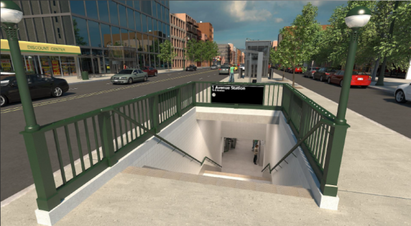 For Stuyvesant Town and East Village residents, a bright spot of the looming L train shutdown is a new subway entrance on Avenue A, as pictured here in a newly released rendering.