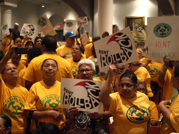 Tenants call for a rollback at the Rent Guidelines Board vote.