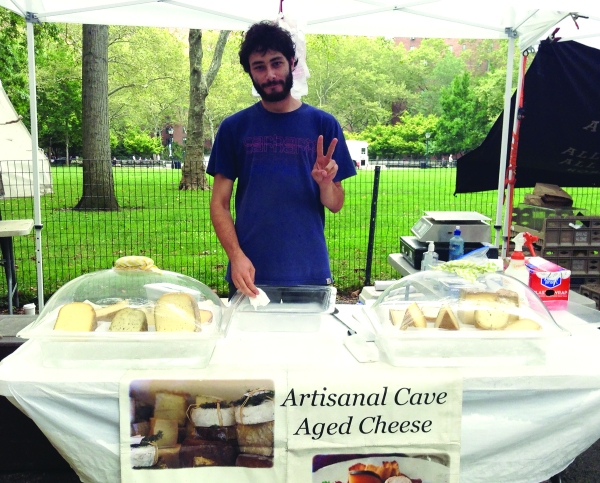 Daego Albero at the Stuyvesant Town Greenmarket (Photo by Maya Rader)