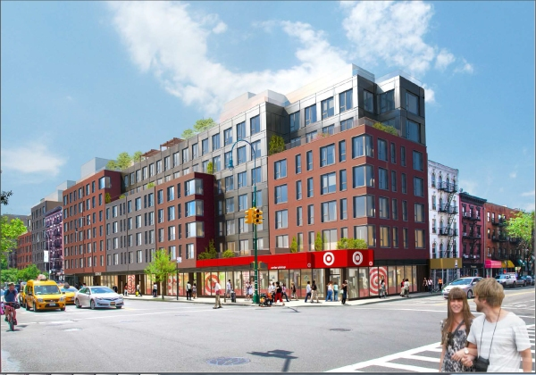Rendering of Target slated for East 14th Street at Avenue A