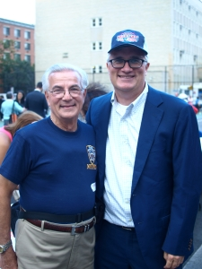 Frank Scala, president of the 13th Precinct Community Council, and Assembly Member Brian Kavanagh