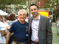 13th Precinct Community Council President Frank Scala with City Council candidate Keith Powers
