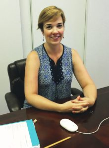 Kate McHugh at her office