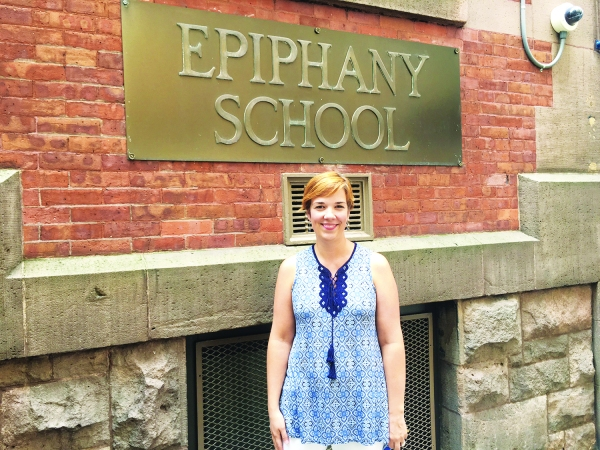 Stuyvesant Town resident Kate McHugh has replaced James Hayes as principal at Epiphany School. (Photos by Sabina Mollot)