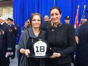 Alicia and Christine Priore, whose father was Lieutenant Joseph Priore