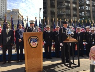 FDNY officials at the ceremony