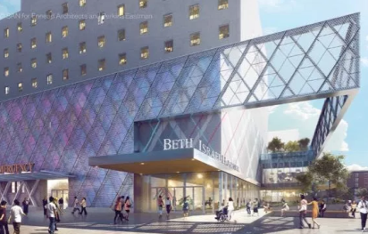 Rendering of new Beth Israel hospital